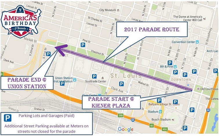 2017 Parade Route and Parking Map 5.10.17